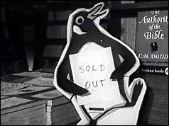 Penguin notice reads 'Sold out'