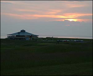 Clubhouse at sunrise