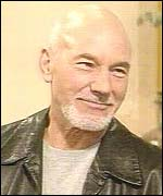 Patrick Stewart in the BBC Breakfast studio