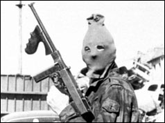 Masked IRA gunman - April 1972