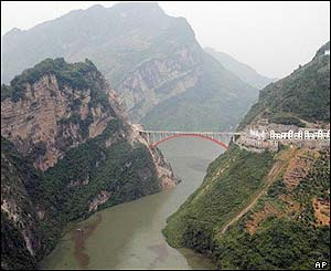 The Jiuwanxi River, one branch of the Yangtze River, in central China's Hubei Province