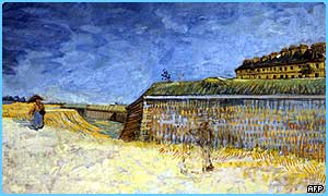 One of the stolen paintings: Van Gogh's The Fortification of Paris with Houses