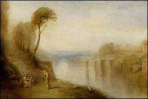Detail from Landscape, with Woman with Tambourine, circa 1845