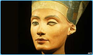 A 3,300-year-old limestone bust of Queen Nefertiti