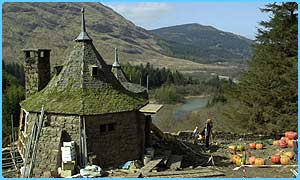 The props were taken from the set of Hagrid's hut in Scotland