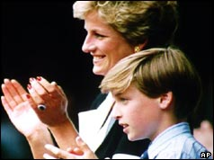 Princess Diana and Prince William watch Wimbledon in 1994
