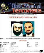 FBI website showing Khalid Sheikh Mohammed