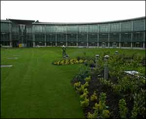 The garden in the centre of the 'doughnut' - the new home of GCHQ in Cheltenham
