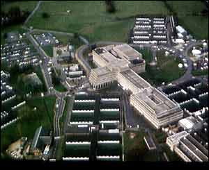 The old home of GCHQ in Cheltenham, Gloucestershire