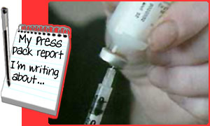 Insulin injections help control diabetes