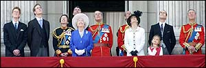 Royal Family on the balcony at Buckingham Palace