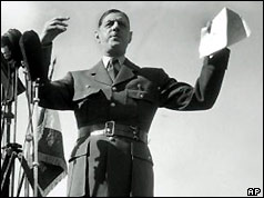 General de Gaulle at Bruneval in 1947