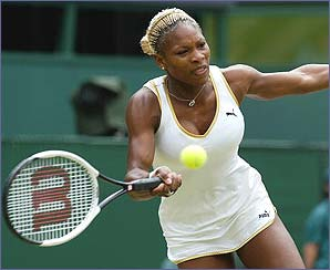 Serena beat her sister in the 2002 final to lift her first Wimbledon title