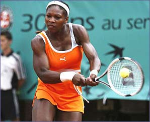 Serena was beaten Justine Henin-Hardenne in the semi-final ending her run of four successive Grand Slams
