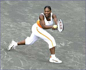 Serena lost to world number three Justine Henin-Hardenne