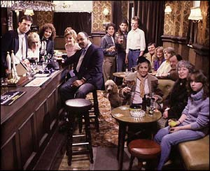 When EastEnders began in 1985, Den Watts took centre stage as the Queen Victoria's roguish landlord