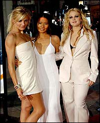 Cameron Diaz, Lucy Liu and Drew Barrymore