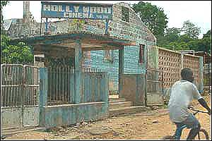 Battered cinema in Koidu