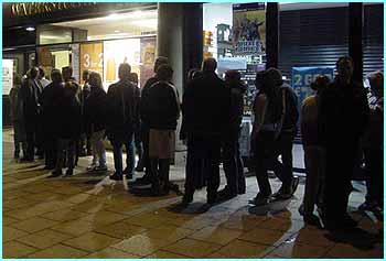 The queue outside the bookshop was dying down by about 1.30am