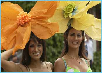 There were some fab hats at Ascot races - these were made from lampshades!