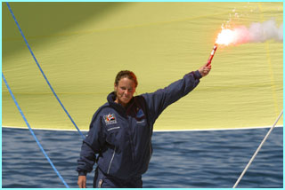Emma Richardson, record breaking sailor, gets near to the finishing her 132 days alone at sea