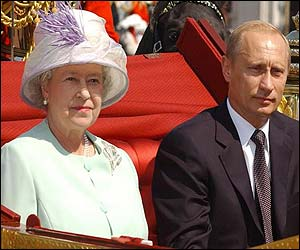 The Queen and Vladimir Putin