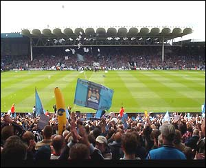 The final game at Maine Road
