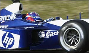 Juan Pablo Montoya a bordo de su Williams