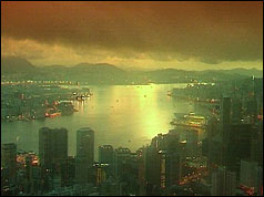 Sunrise over Hong Kong after the handover