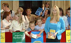 JK Rowling meets her fans at the Royal Albert Hall