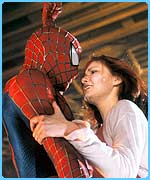 Tobey with on-screen love Kirsten Dunst