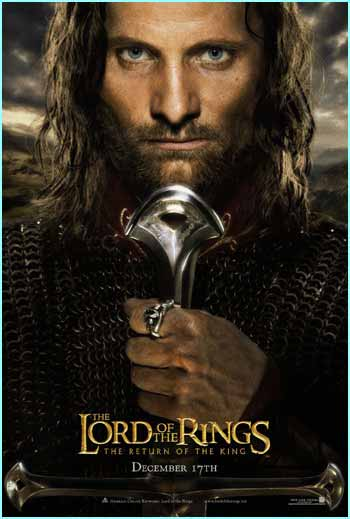 The sword Aragorn is holding is probably Anduril, a sword that shows he is beginning to be the King of Men