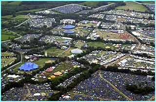 Thousands of people pitched their tents for the Glastonbury festival