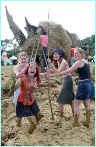 It wouldn't be Glasto without mud!