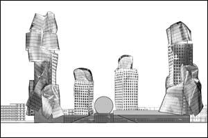 Computerised artists' impression of the Gehry plan