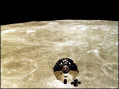 Apollo 10 command module pictured by lunar command module