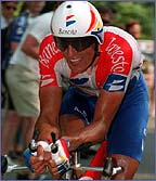 Miguel Indurain in action in a time trial