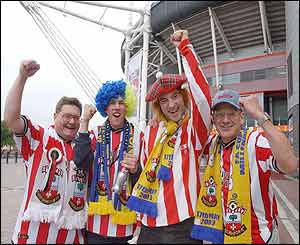 Southampton fans look forward to the FA Cup final against Arsenal