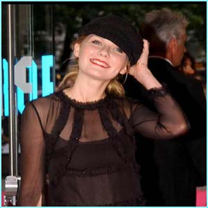 Spider-Man star Kirsten Dunst chose to wear a hat, too!