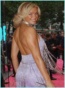 I'm A Celeb star Nell McAndrew in a dazzling dress