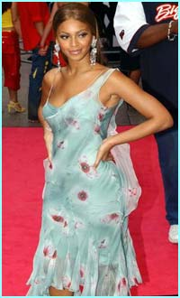 Beyonce Knowles - who appears on the soundtrack - arrives at the premiere