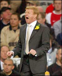 Saints manager Gordon Strachan makes his feelings known