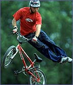 BMX freestyler in action