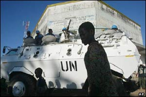 UN peacekeepers in Bunia