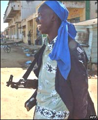Militiaman on Bunia street