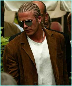 Another day, another new haircut. This time it's braid it like Beckham as Becks copies some of his fave rap stars