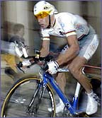 Bradley McGee in time trial action at the Tour de France