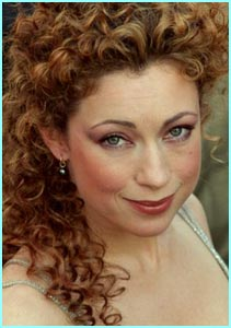 Slightly more glam, it's ER actress Alex Kingston