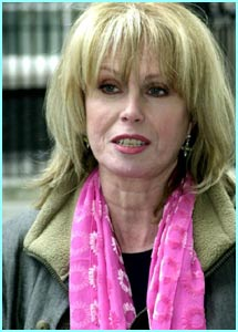 ... with another Trelawney candidate, Joanna Lumley