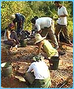 Archaeologists dig for clues (Picture: UNAN - Managua, UAB, CSIC)